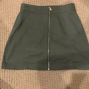 H&M skirt! Navy green!